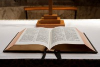 Open Bible by Petr Kratochvil