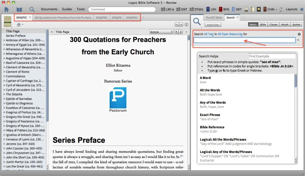 Quotations Search Query
