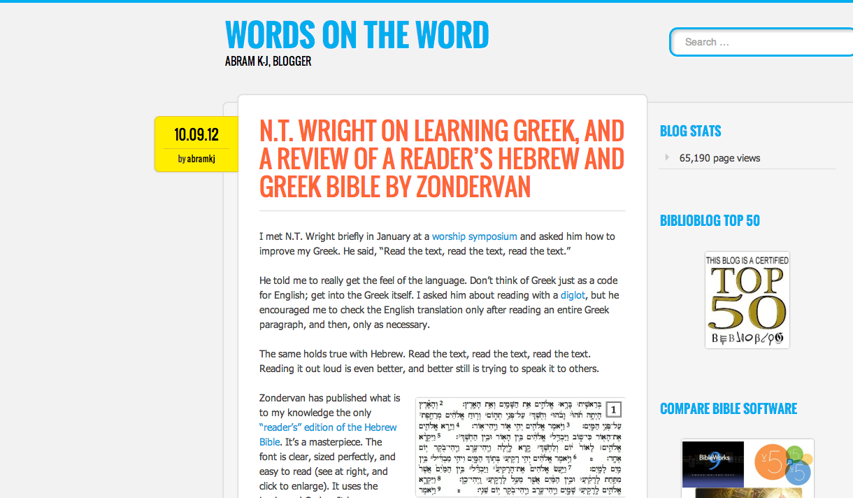 new blog layout words on the word