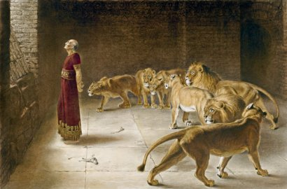 Daniel's Answer to the King, by Briton Rivière, 1890