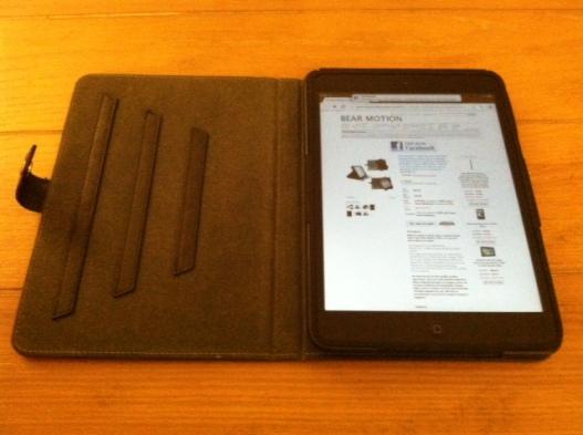 iPad mini in case, the full setup