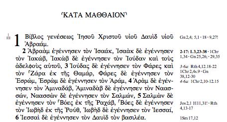 Matt 1.1-6 GNT
