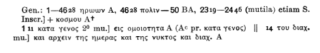 Rahlfs Apparatus Gen. 1.1-14