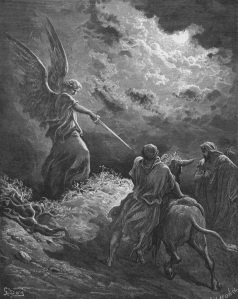 The Angel Appears to Balaam, by  Gustave Doré (1832–1883)