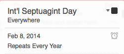 Add it to your iCal