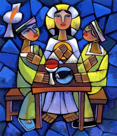 Supper at Emmaus, by Dr. He Qi, 2001