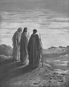 Jesus and the Disciples on the Road to Emmaus, by Gustave Doré (1832–1883)