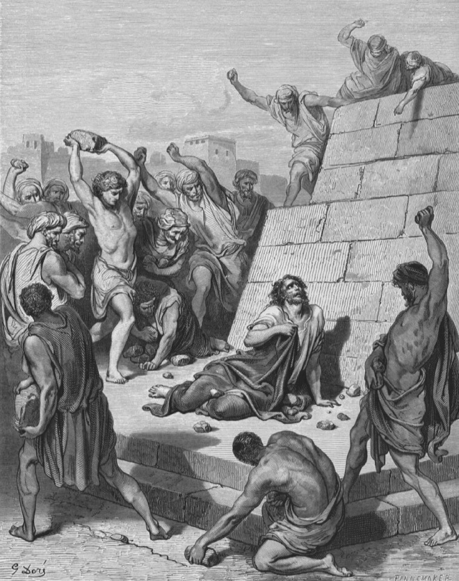 Image result for stoning of stephen images