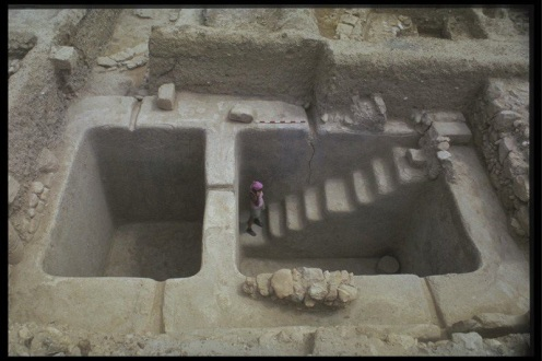 Ancient Baptismal Pool (Source: Zondervan Illustrated Bible Backgrounds Commentary)