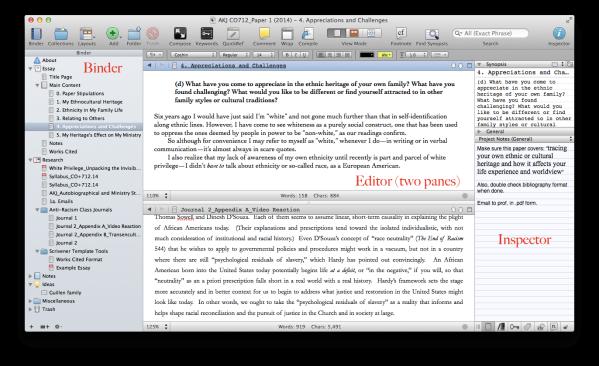 Scrivener Paper Layout