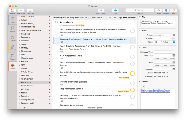 OmniFocus for Mac Review Perspective