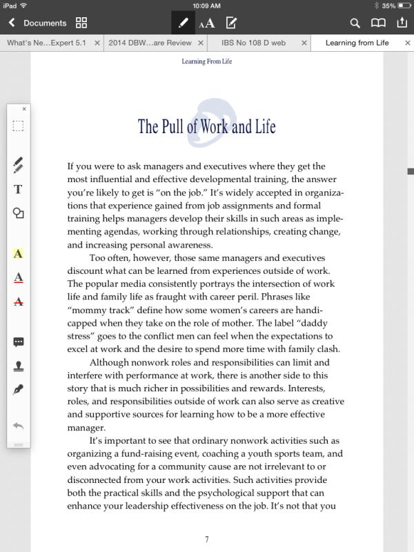 Reading Screen