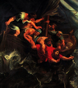 Jonah into Sea
