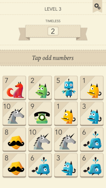 Tap Odd Numbers