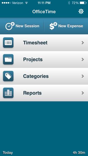 OfficeTime Screen