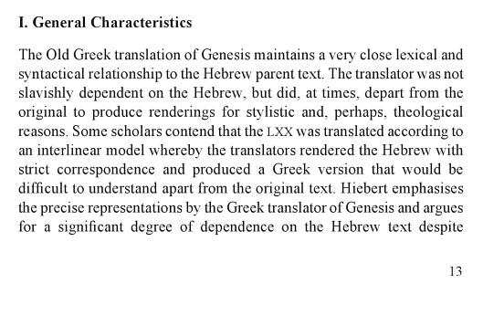 LXX Companion Genesis
