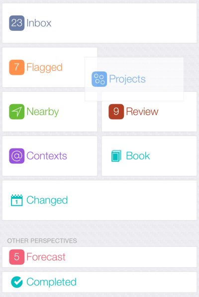 Reordering Perspectives in iOS Pro