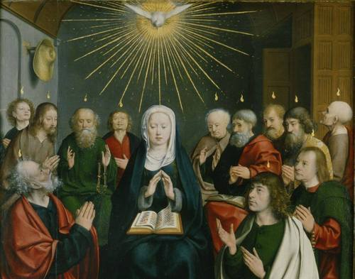 """Pentecost,"" by Jan Joest van Kalkar (1505 – 1508)"