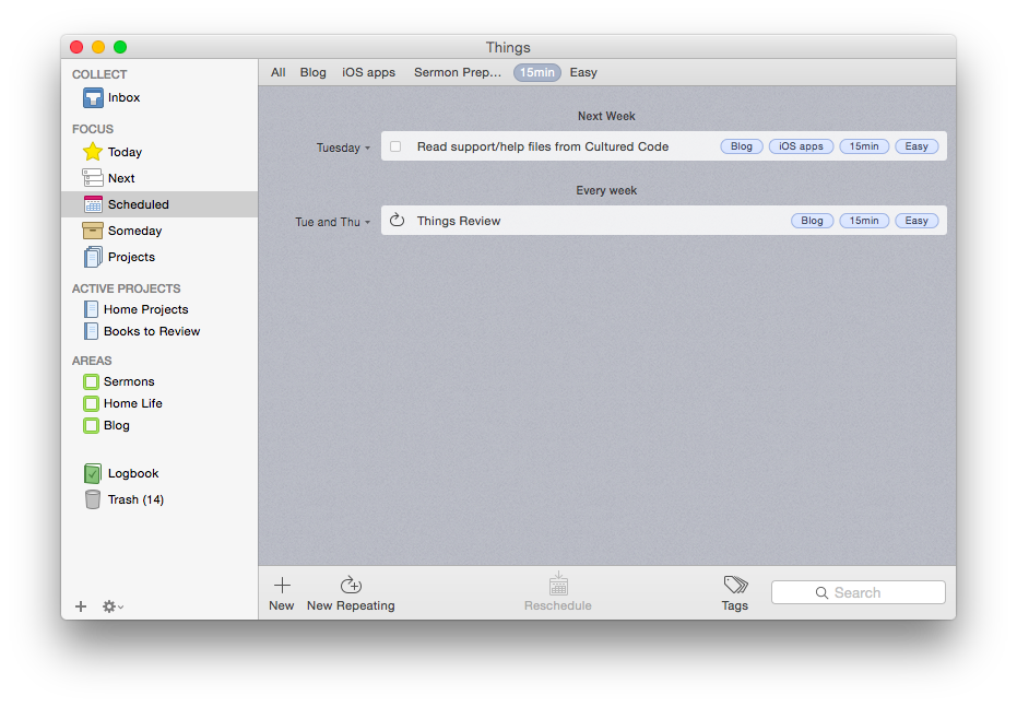 Things for Mac OSX