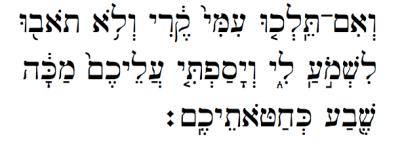 Hebrew text of Leviticus