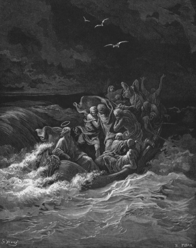 Jesus Calms the Storm, Gustave Doré