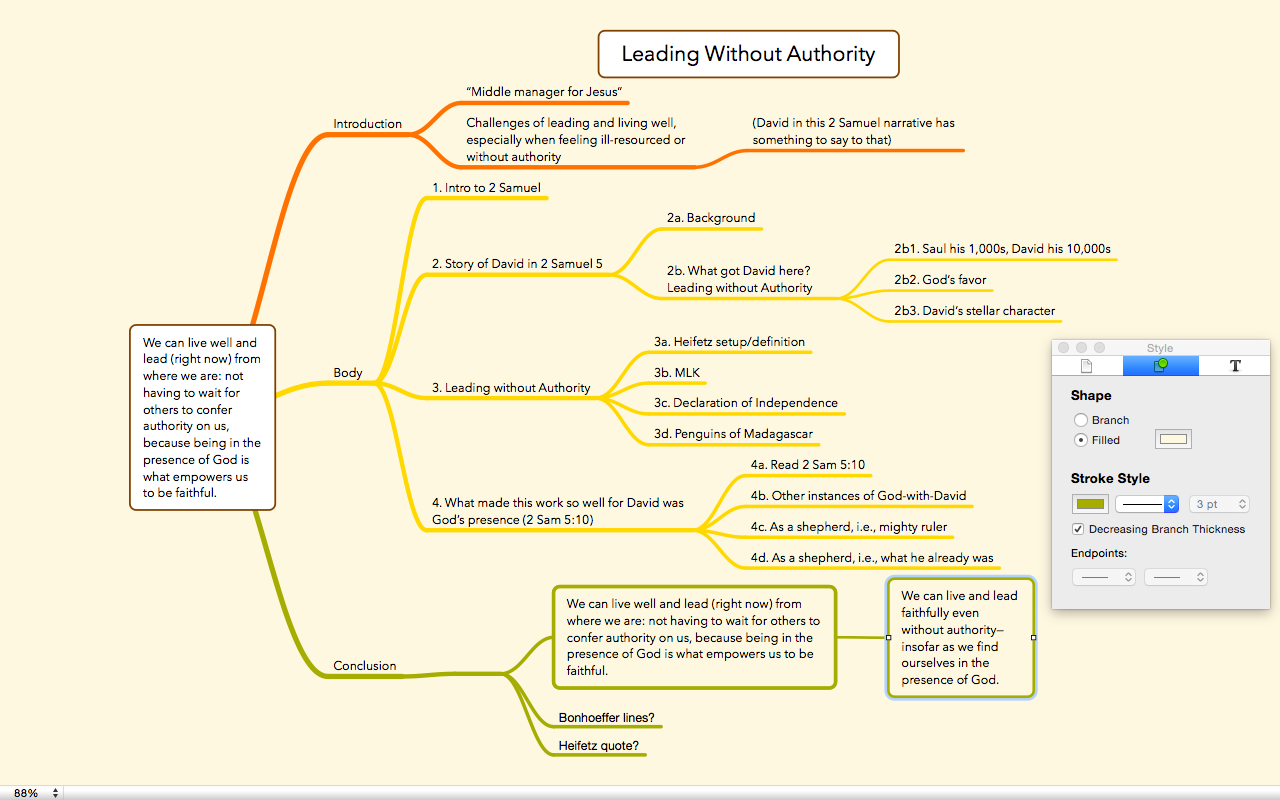 screenshot from osx app mindnode pro click to enlarge - Osx Mind Mapping