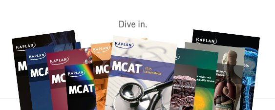 Kaplan MCAT prep course books