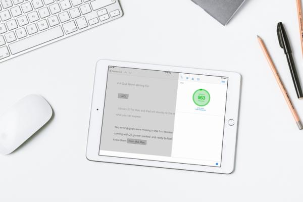 Writing Goals on iPad (Image Via Ulysses/The Soulmen)