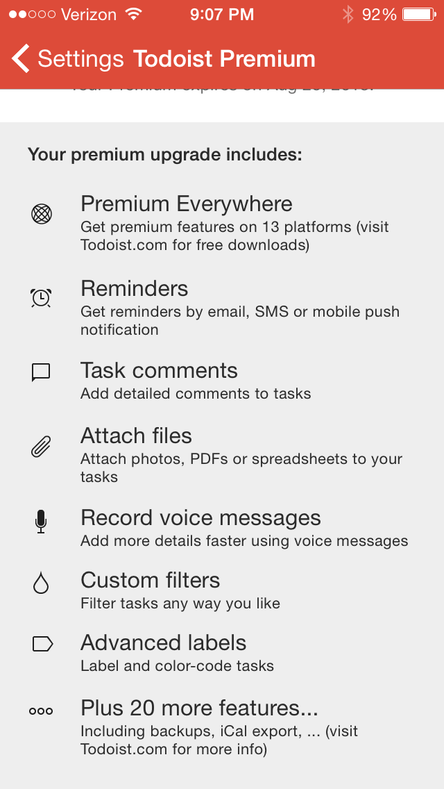Todoist (Premium): Reviewed and Considered – Words on the