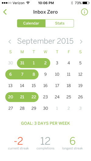 Calendar Stats
