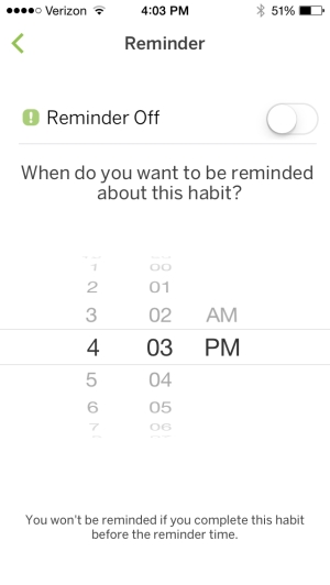 Set Habit Reminder