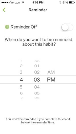 Set Habit Reminder