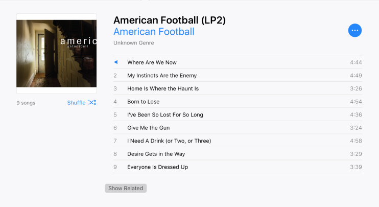 American Football Track List in iTunes.png