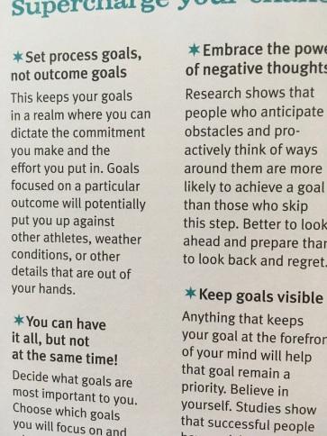 Guidance on goals
